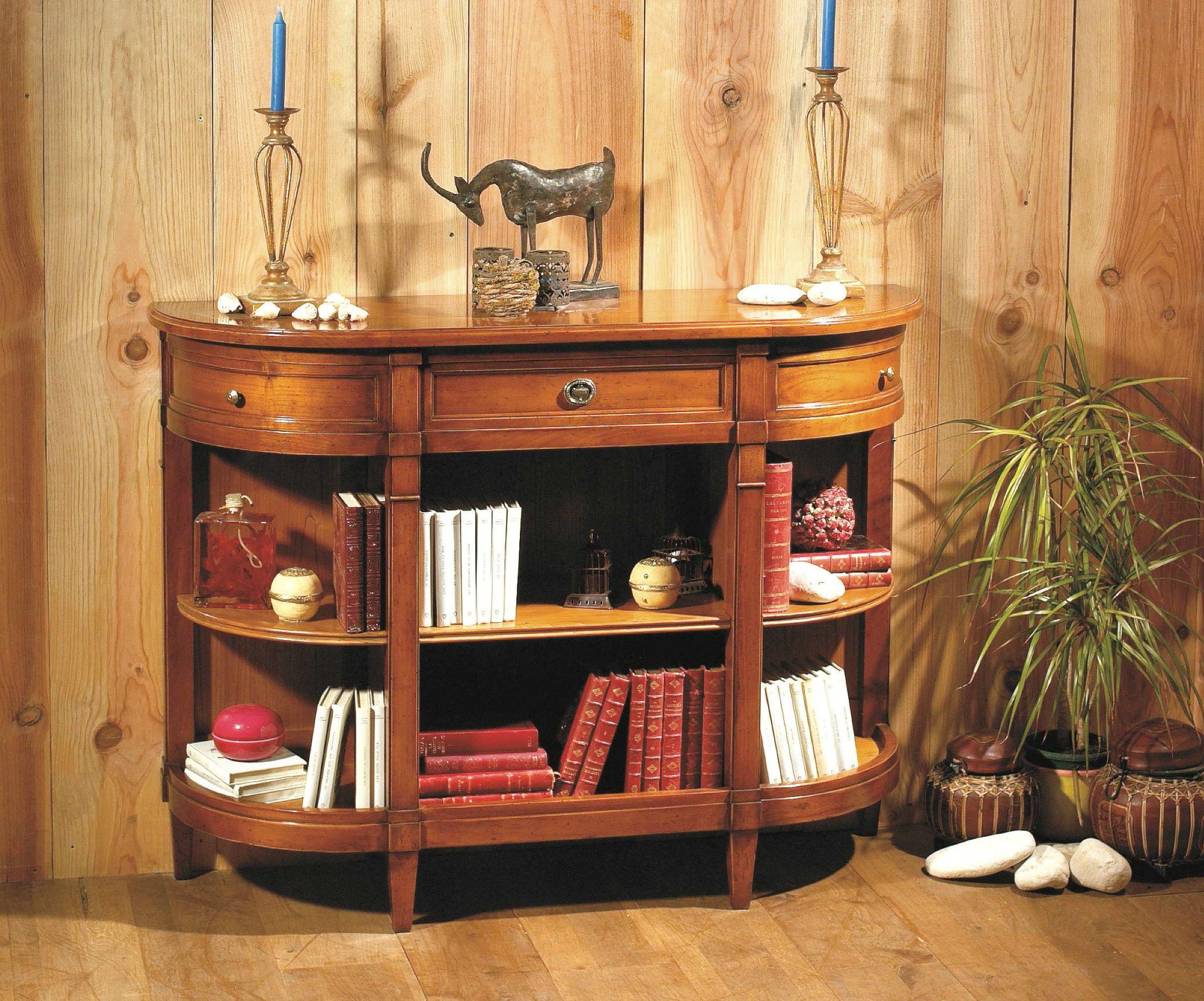 meuble d 39 appui en bois massif de style directoire avec 1 tiroir 2 s paration et 3 tag res. Black Bedroom Furniture Sets. Home Design Ideas
