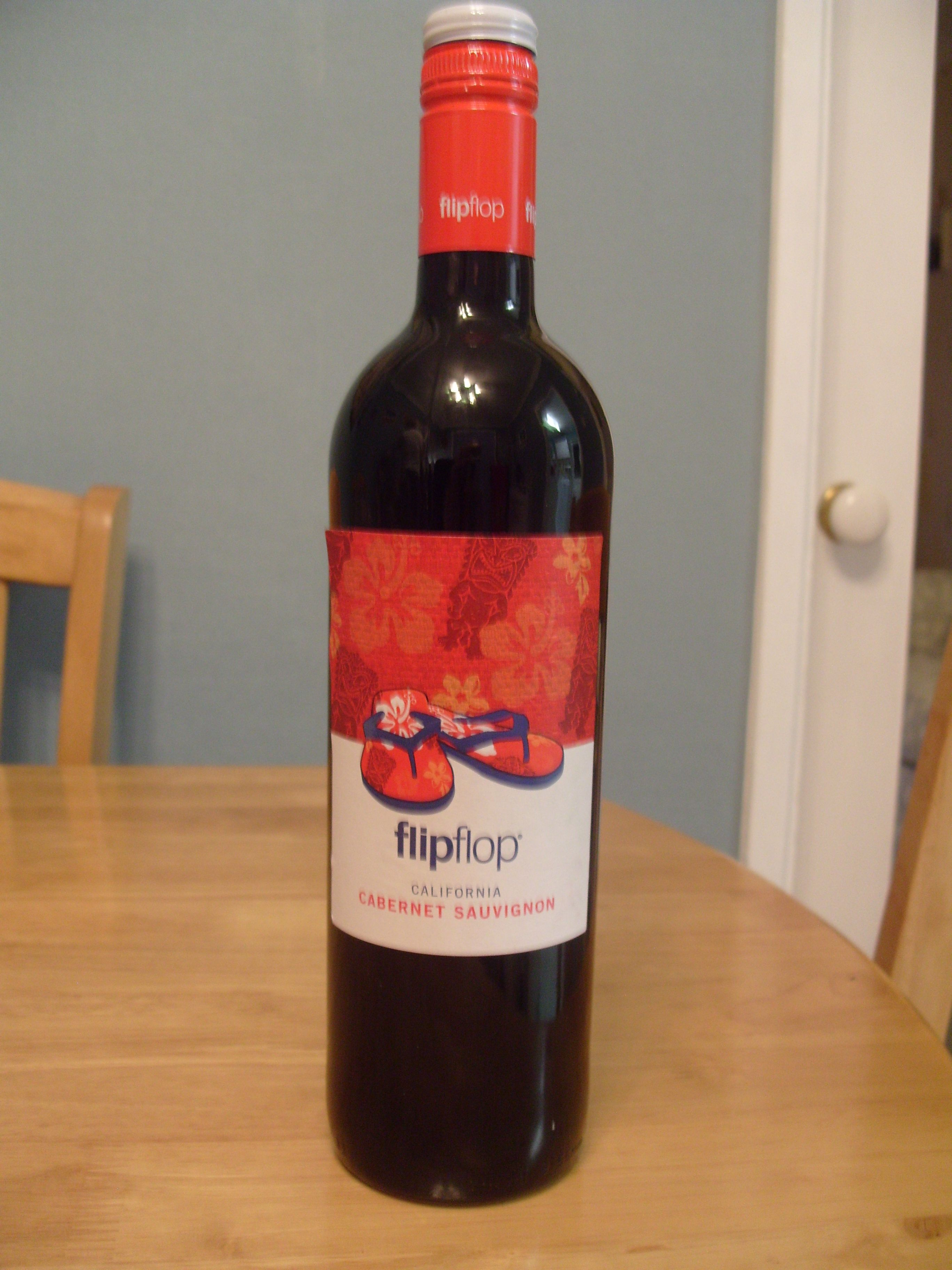 To Go With My Flip Flops Wine Bottle Alcoholic Drinks Red Wine