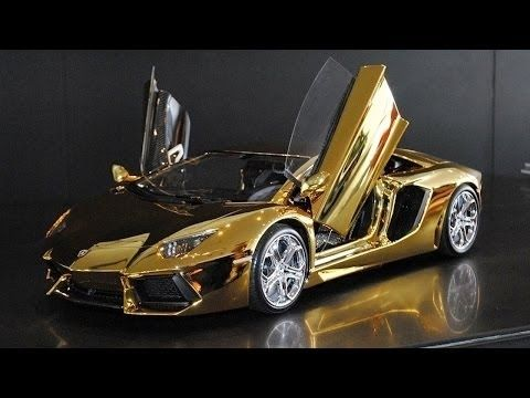 World S Most Expensive Model Car Golden Lamborghini Gold Lamborghini Super Cars Expensive Cars