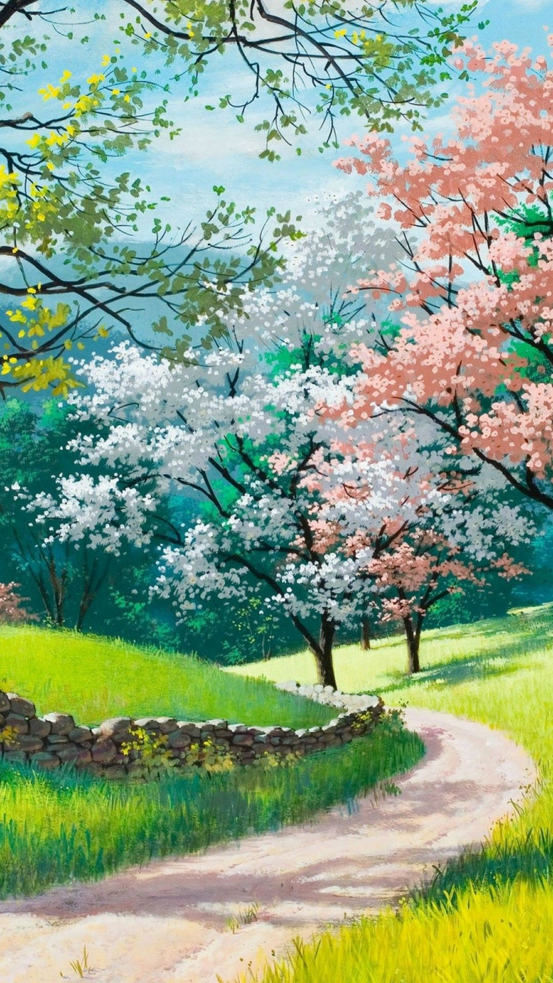 Top 8 Spring Wallpapers 1080p For Your Android Or Iphone Wallpapers Android Iphone Wallpaper Landscape Wallpaper Anime Scenery Landscape Paintings