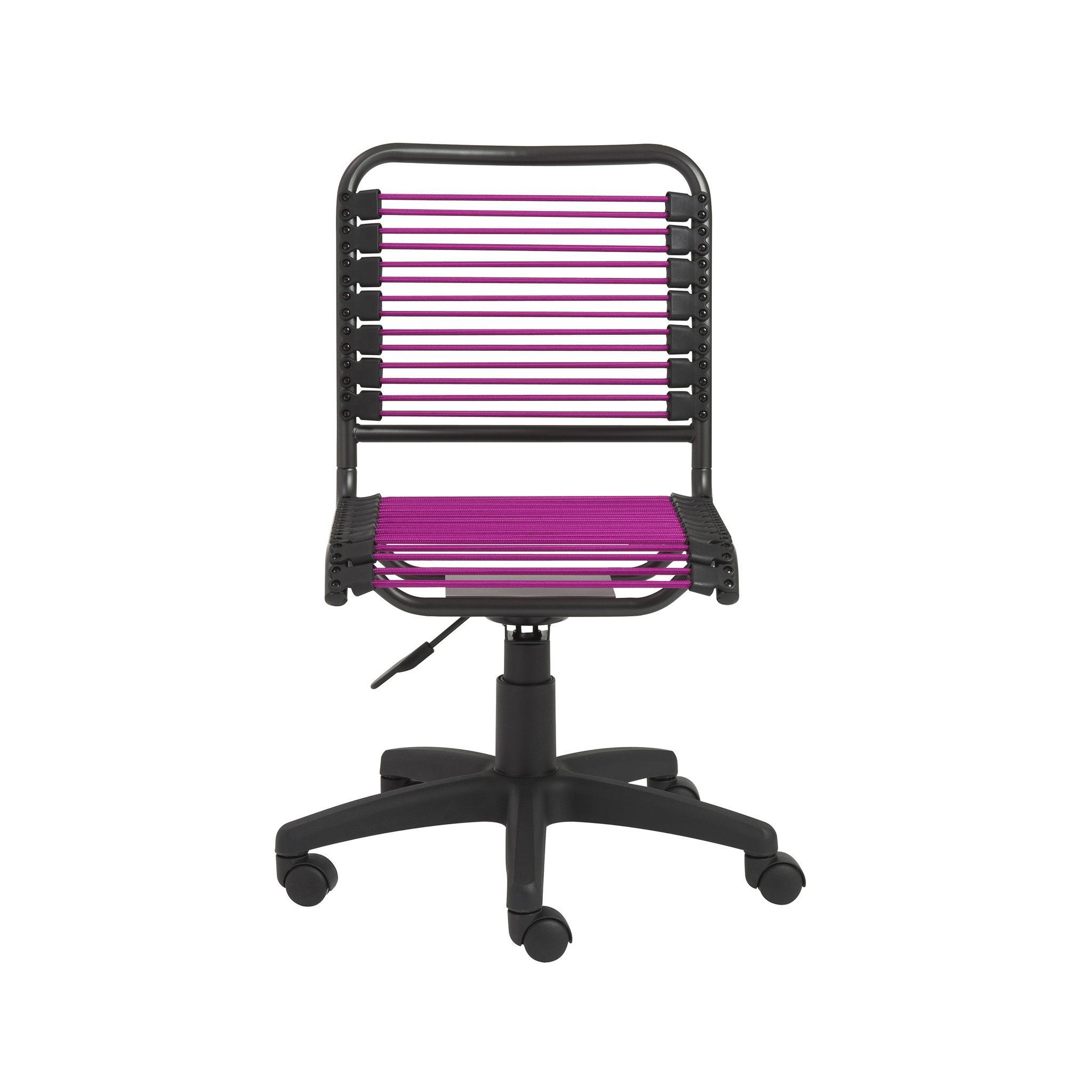 Bungie Low Back Office Chair in Pink with Graphite Black Frame and Black Base