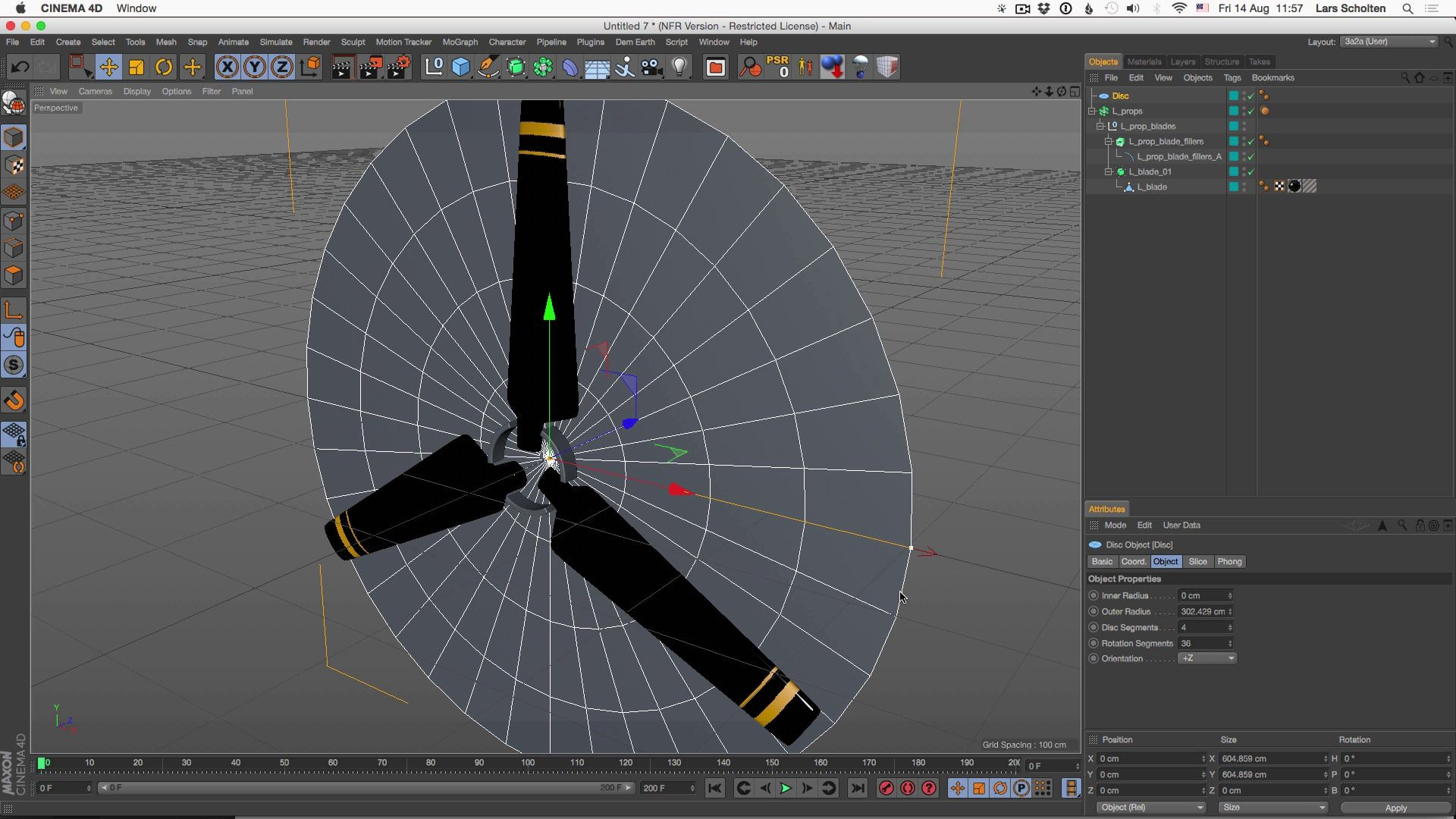 Tutorial 08: Creating a rotating propellor effect with