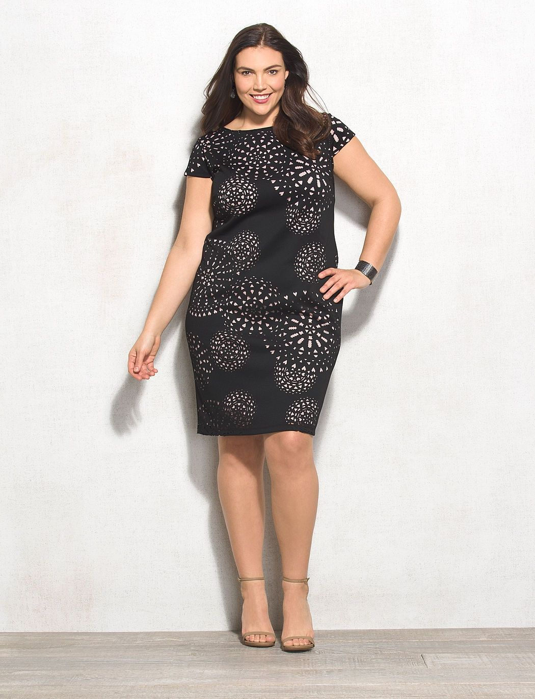 Db Signature Plus Size Camryn Scuba Cutout Dress Dress Barn