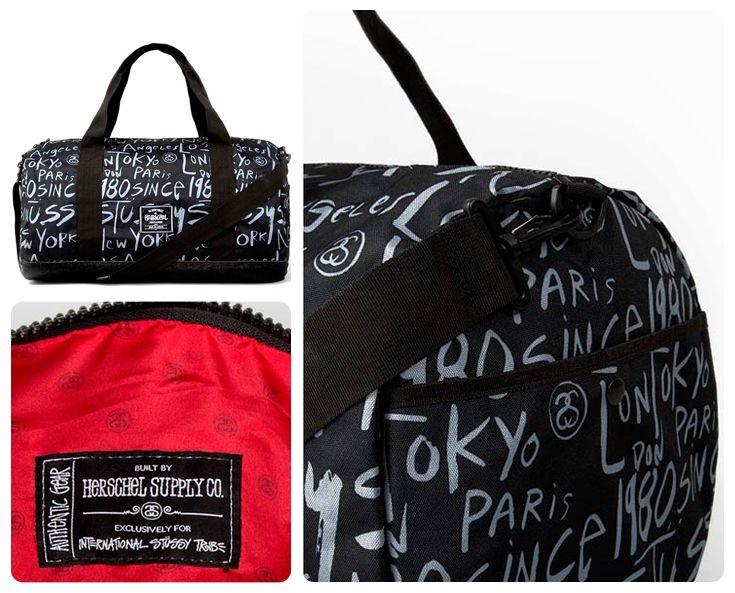 Stüssy x Herschel Cities Large Duffle Bag    Hot collaboration between  street wear legend Stüssy and bag specialist Herschel. 857e166660872
