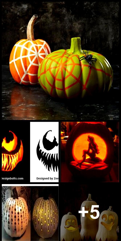 5 Free Venom & Scary Halloween Pumpkin Carving Stencils, Patterns, Printable Tem...,  pumpkins veno
