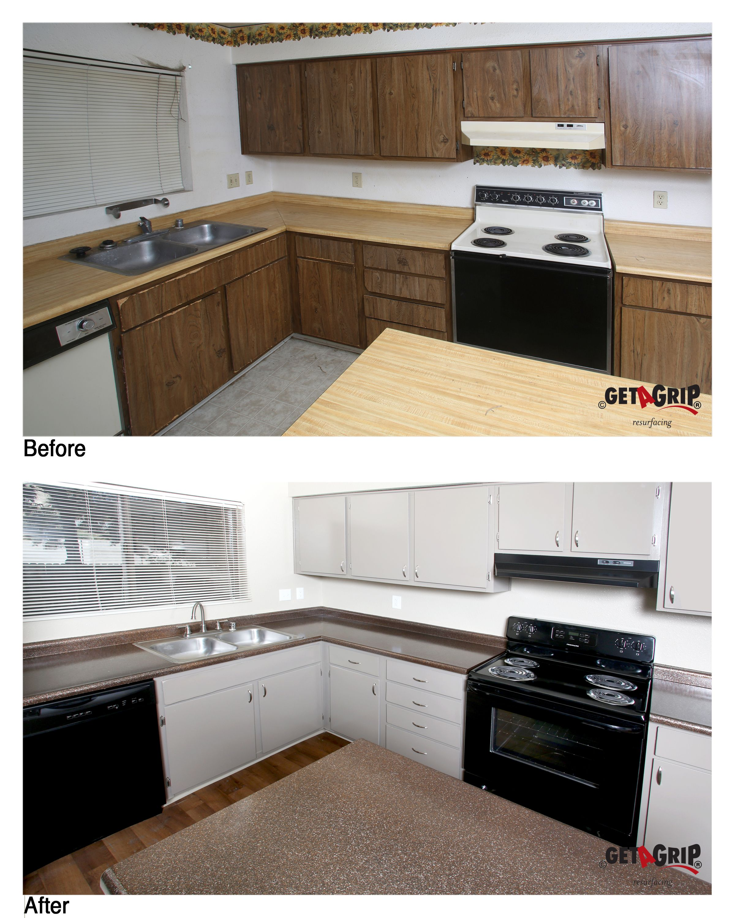 Resurfaced Countertops And Cabinets