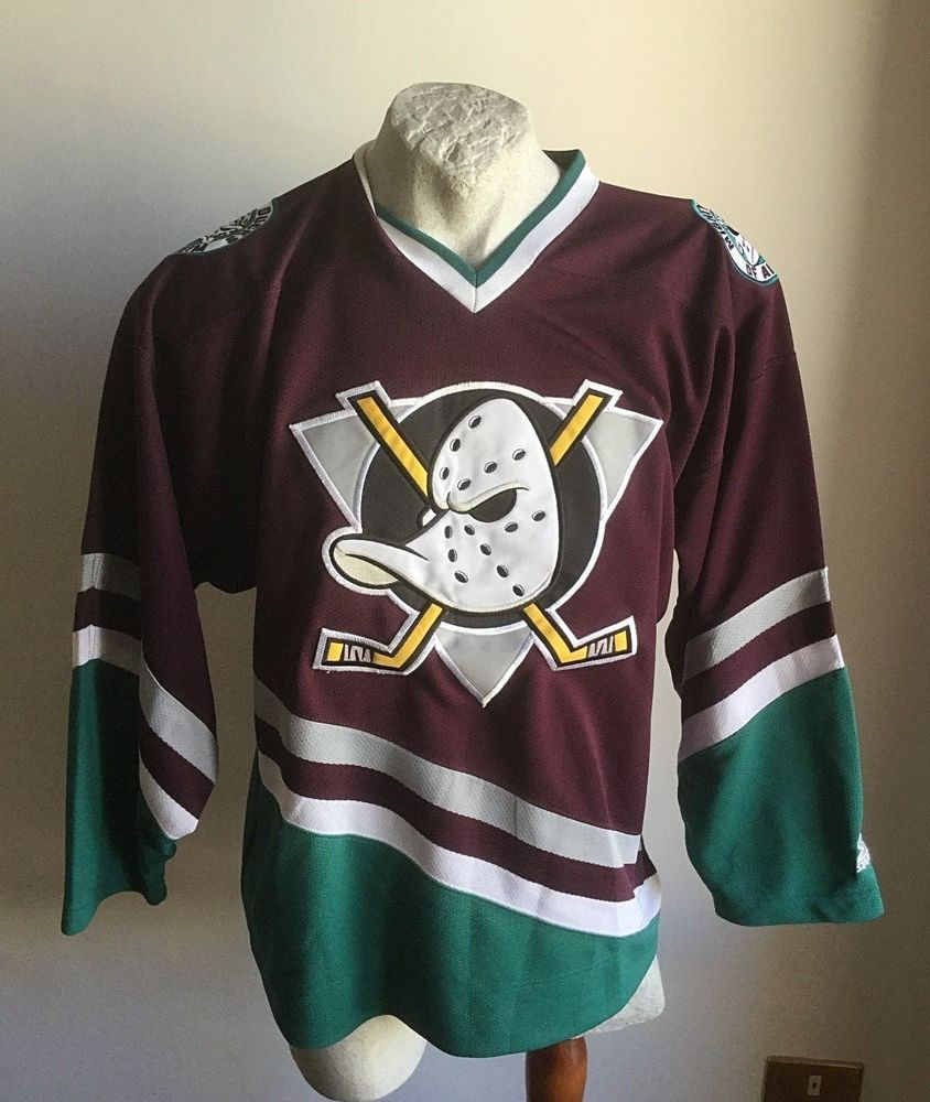 new product 8cb83 cbf16 MAGLIA NHL ANAHEIM MIGHTY DUCKS ICE HOCKEY SHIRT JERSEY ...