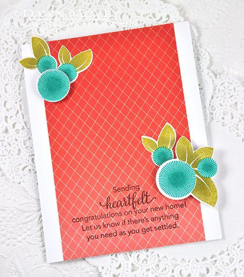 Heartfelt Congratulations Card by Dawn McVey for Papertrey Ink (August 2015)