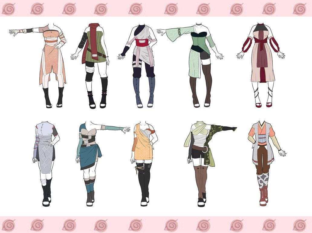 Naruto Outfit Adoptables CLOSED by zombie-adoptables  Drawing