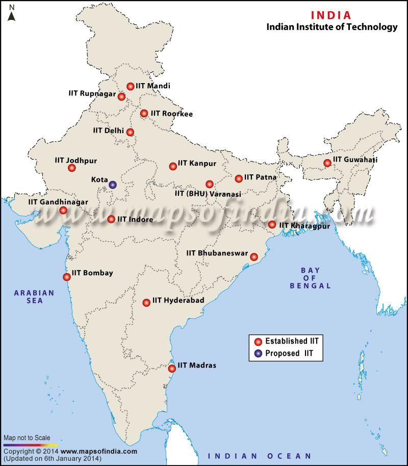 political varanasi in india map Map Of Iit Colleges In India India Map India Facts Map political varanasi in india map