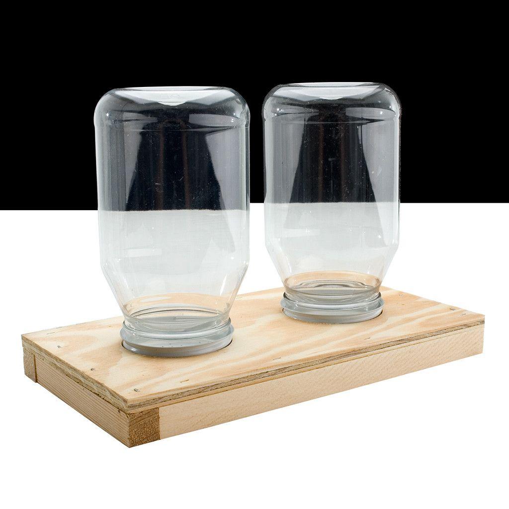 Double Jar Feeder for Bee Hive | Bee feeder, Bee keeping ...