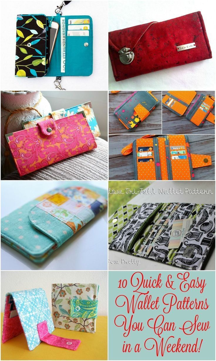 Wallet Pattern Free 10 Quick Easy Wallet Patterns You Can Sew In A Weekend Great#EyesSewing Wallet