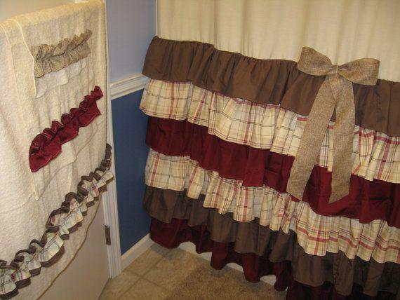 Towel Set Hand Bath Washcloth Bathroom Designer Fabric Ruffles Ruffled Ivory Cream Tan Chocolate Brown Stylish Bathroom Guest Bathroom Decor Bathroom Design