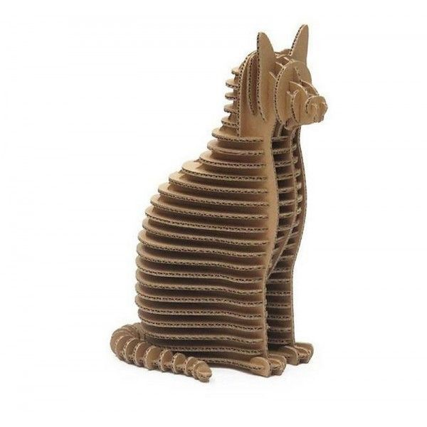 Gut gemocht sculpture en carton | Statue sculpture en carton chat crembo | EN  DF31