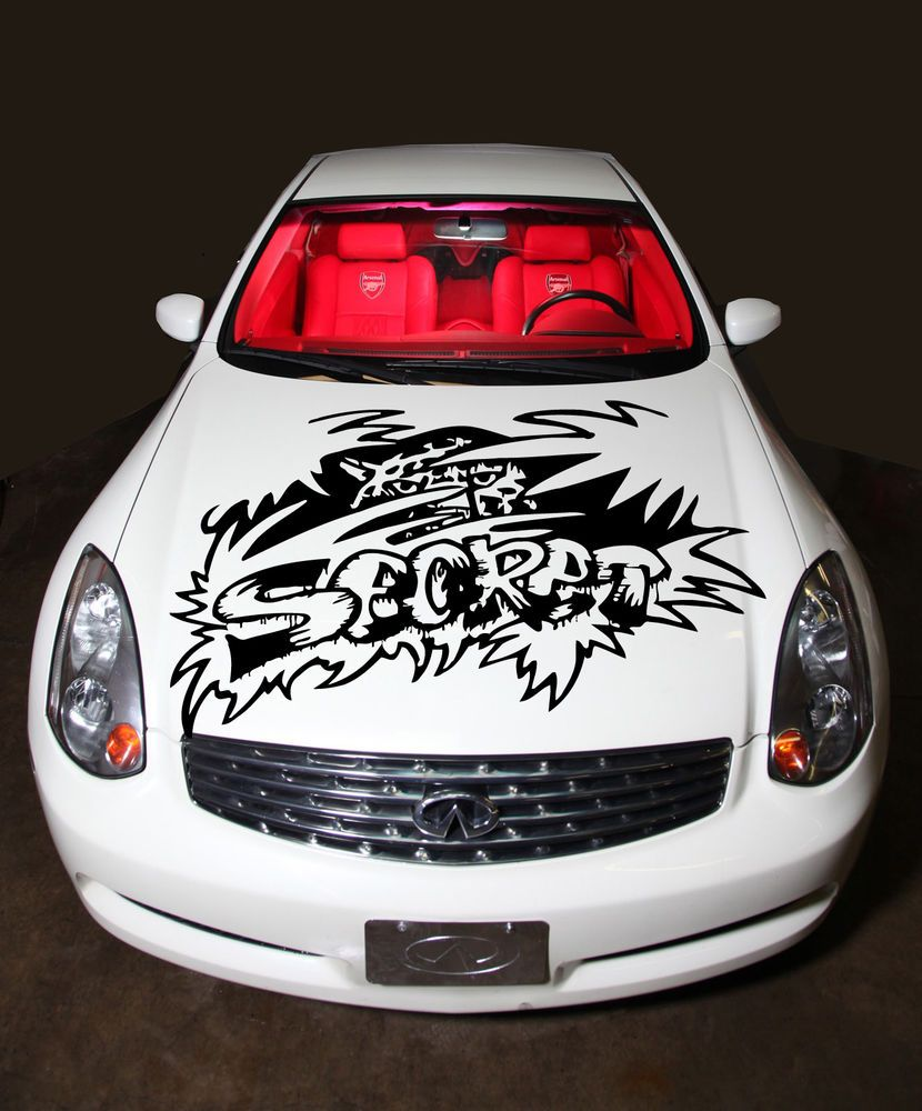CAR VINYL HOOD GRAPHICS DECALS STICKER SECRET GRAFFITI STYLE N - How to make vinyl decals off car