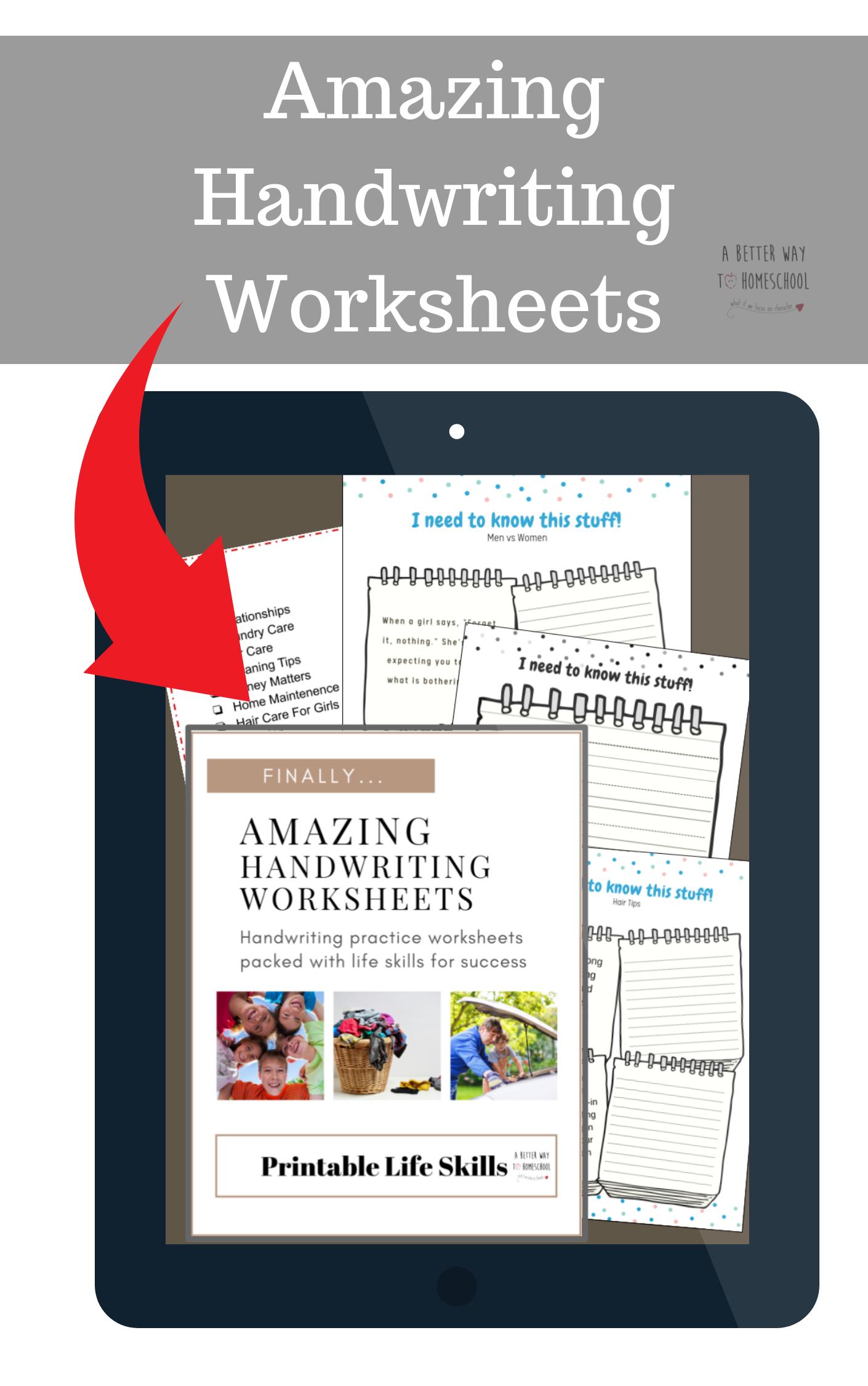 These Amazing Handwriting Worksheets Use Life Skills