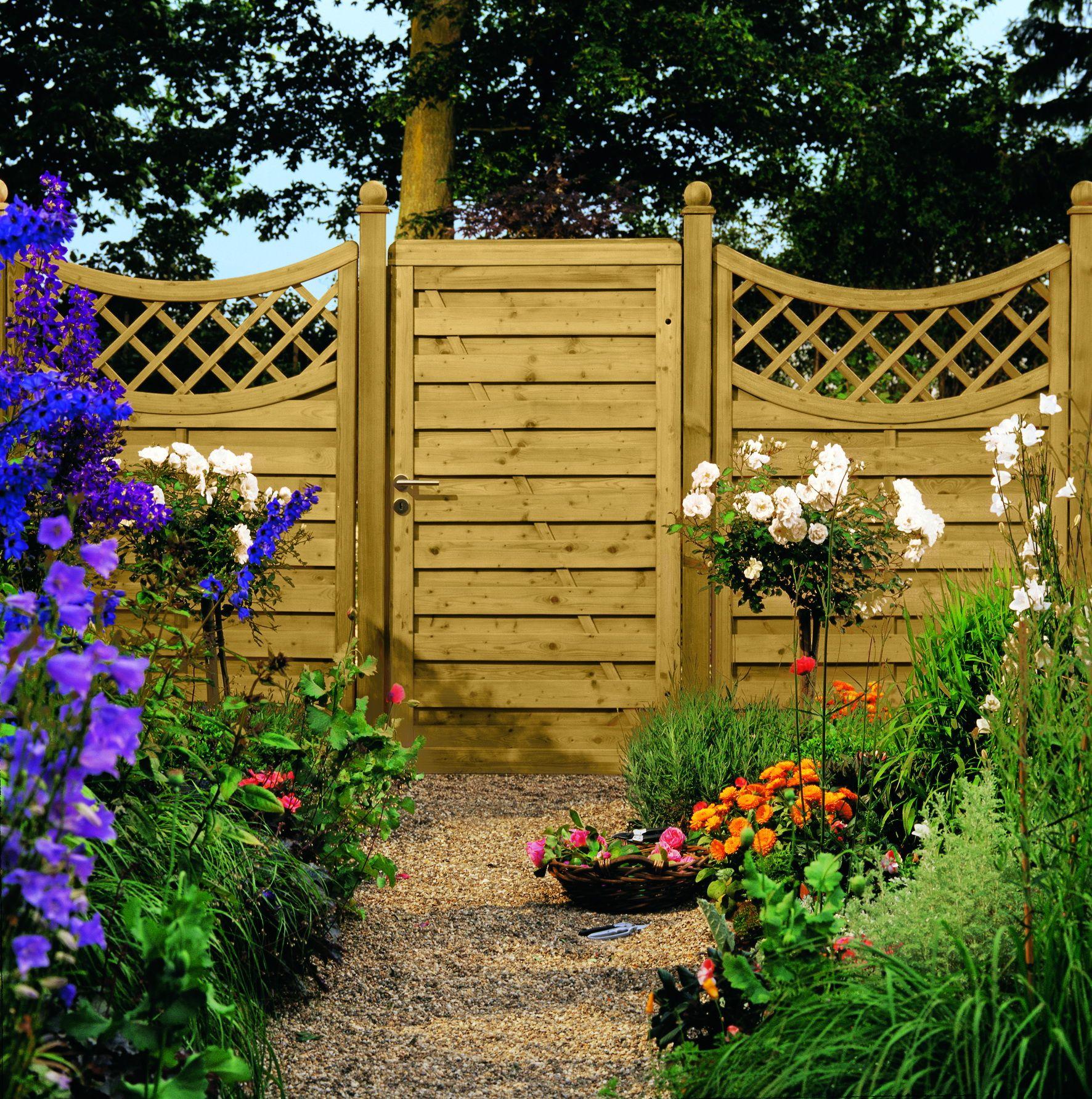 Garten Oder Terrassenabtrennung Aus Nadelholz Druckimpragniert