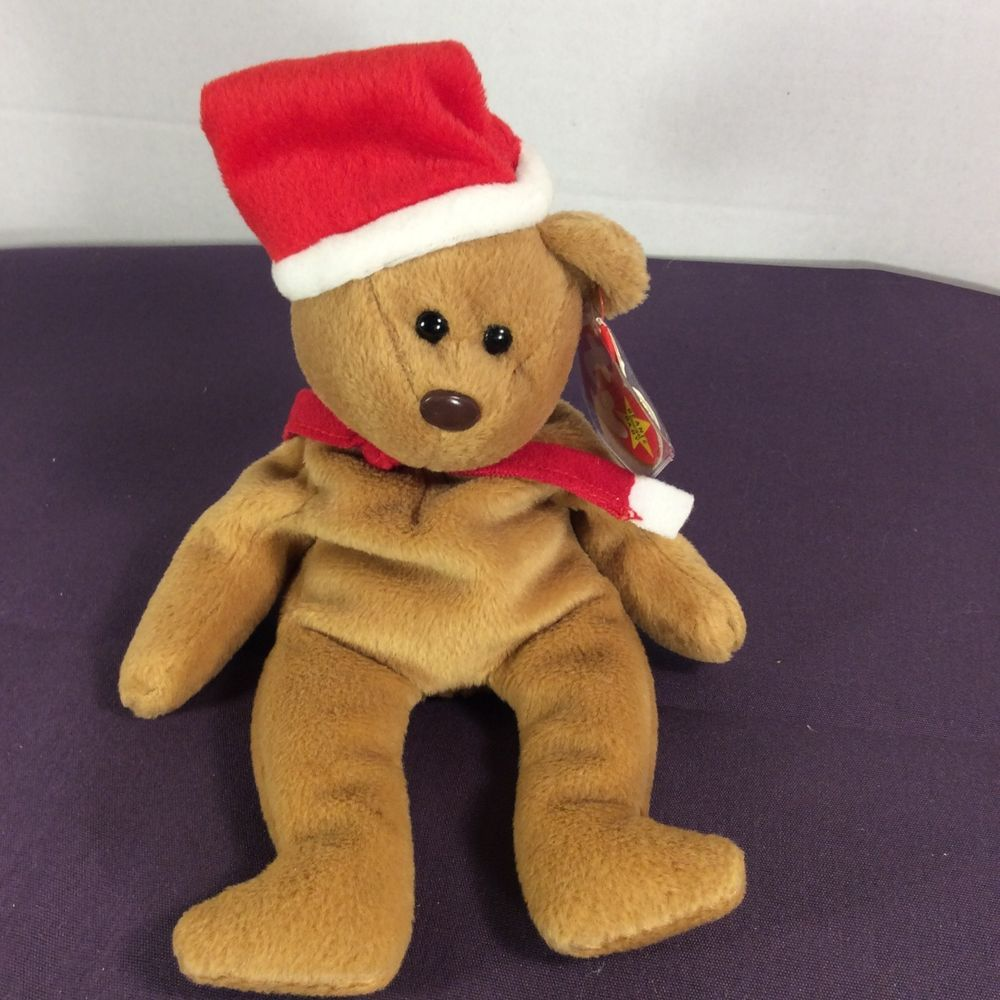 265956d5ec0 1997 Christmas Teddy Beanie Baby - Parchment N Lead