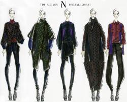 sketches, style, illustration, fashion, models