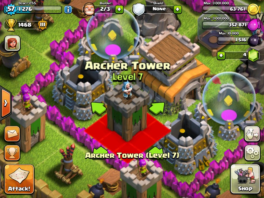 Okay I moved the archer tower to where the wizard tower was