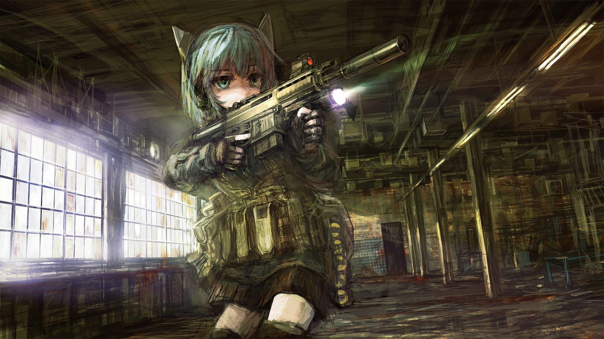 Pin On Anime Girls With Guns