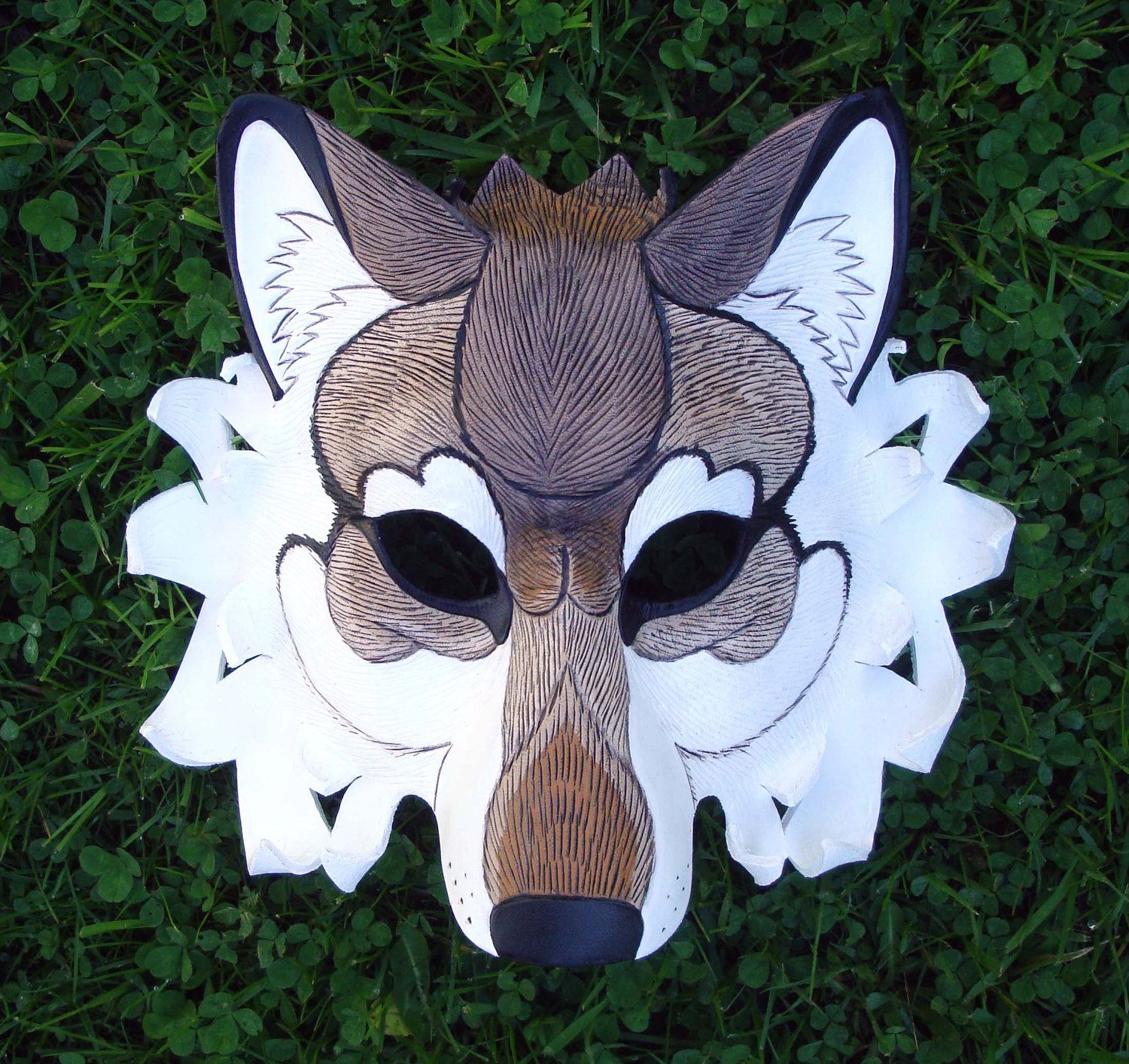 Someday I will have one of these, a leather wolf mask so beautifully ...