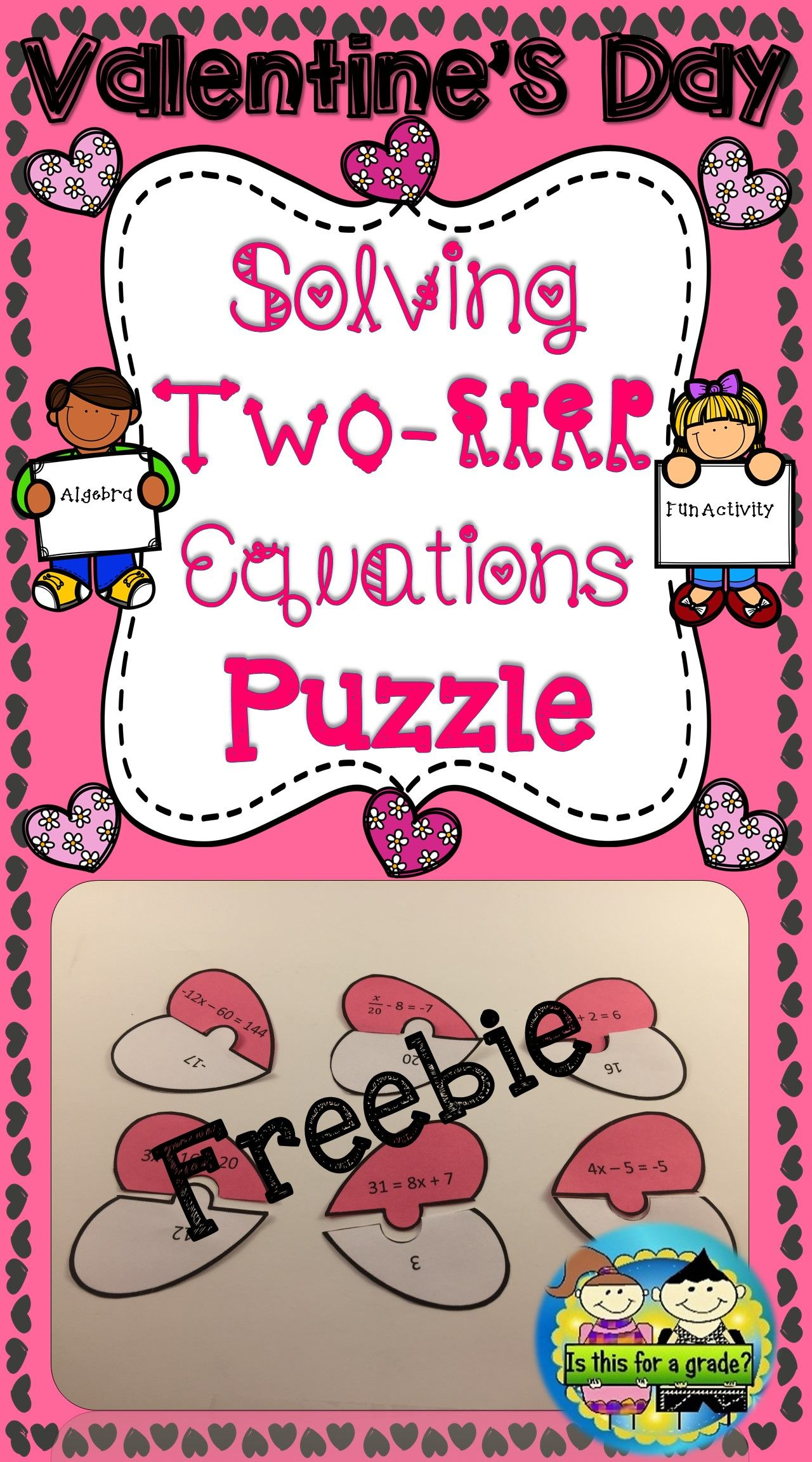 Valentine S Day Algebra Activity