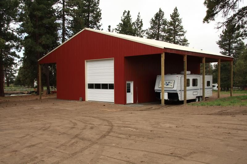 Pole barns living quarters mark holland construction for Metal rv garage with living quarters