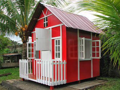 Casitas de madera para ni os playhouse garden - Caseta madera ninos ...