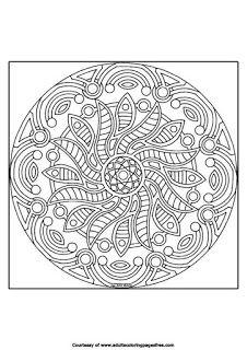 mandala advanced coloring pages