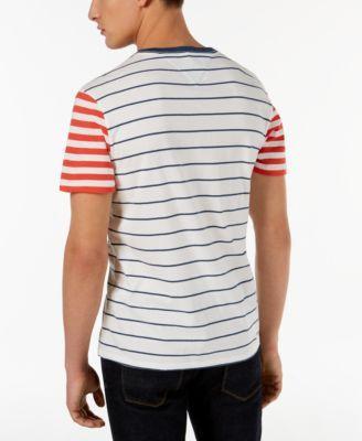 780c2cfe Tommy Hilfiger Men's Suffolk Colorblocked Stripe T-Shirt - White 2XL ...