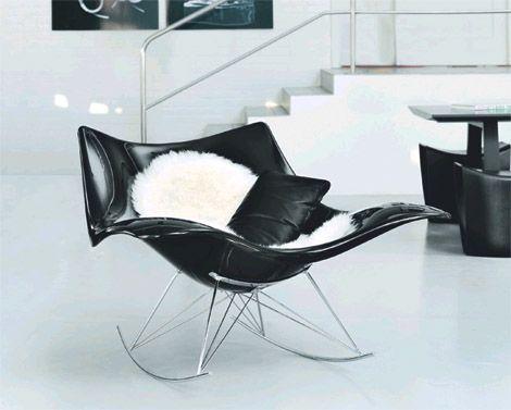 Futuristic rocking chair