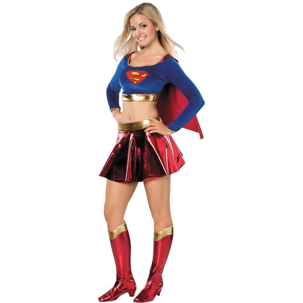 Fast Deliver Super Woman Sexy Supergirl Cosplay Costumes Fancy Dress With Boots Girls Superman Battle Suit Halloween Cosplay Costumes Home