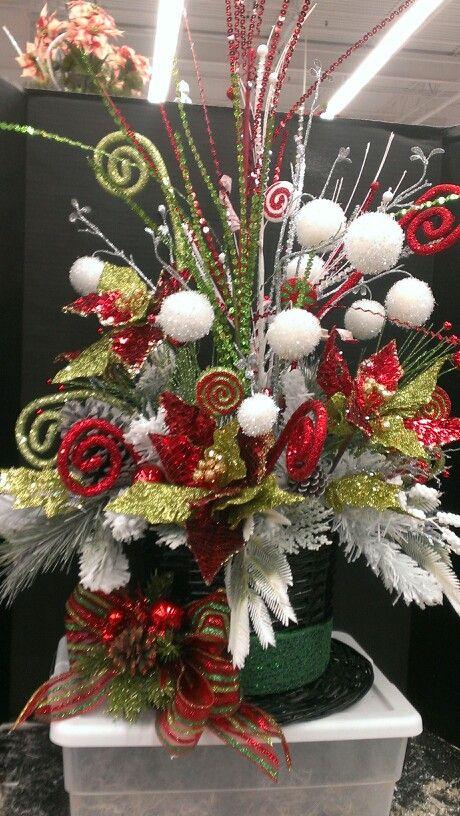 Christmas Party Hat 1 Robin Evans Christmas Floral Arrangements Christmas Floral Christmas Flower Arrangements