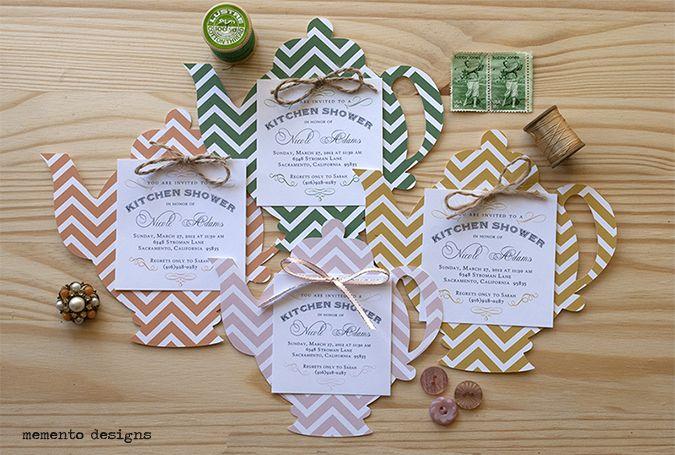memento designs die cut teapot invitation   showers   pinterest
