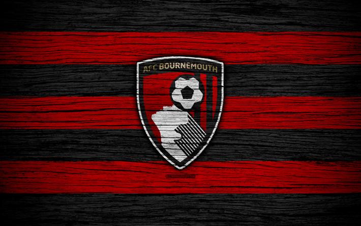 футбол 1 Wallpaper: Download Wallpapers Bournemouth, 4k, Premier League, Logo