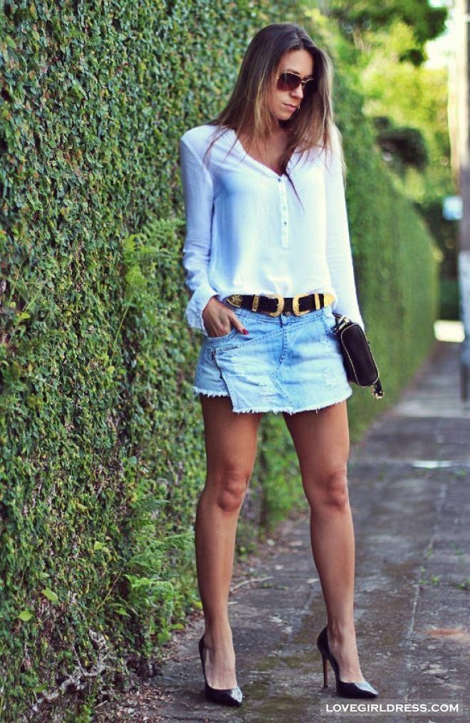 shorts Saia jeans  Decor E Salto Alto