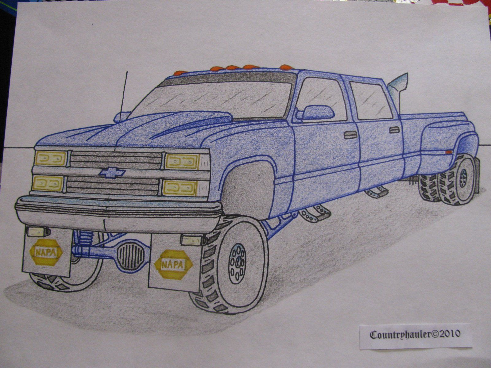Dually Truck Jacked Up Old Chevy Turbo Diesel Dually