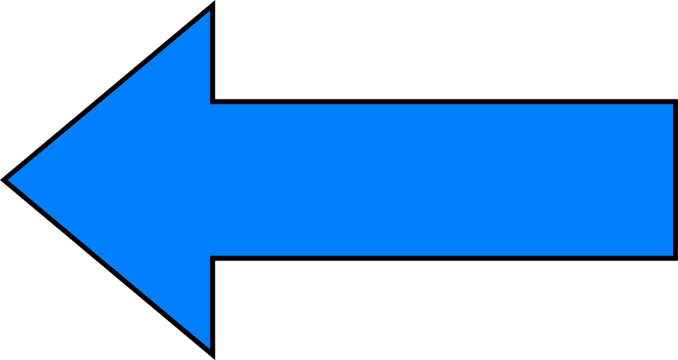 Illustration of a blue left facing arrow : Free Stock ...