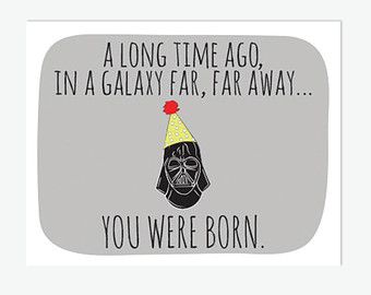 graphic regarding Star Wars Birthday Card Printable called Star Wars Birthday Card Printable // Darth Vader Birthday