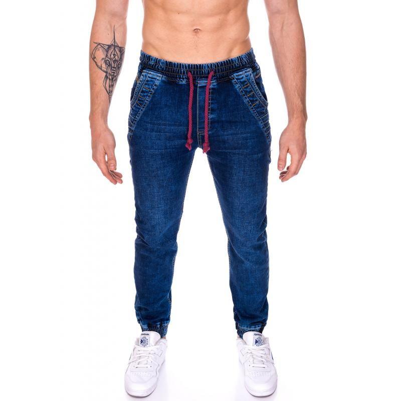 Pánske jogger nohavice riflové (džínsové)