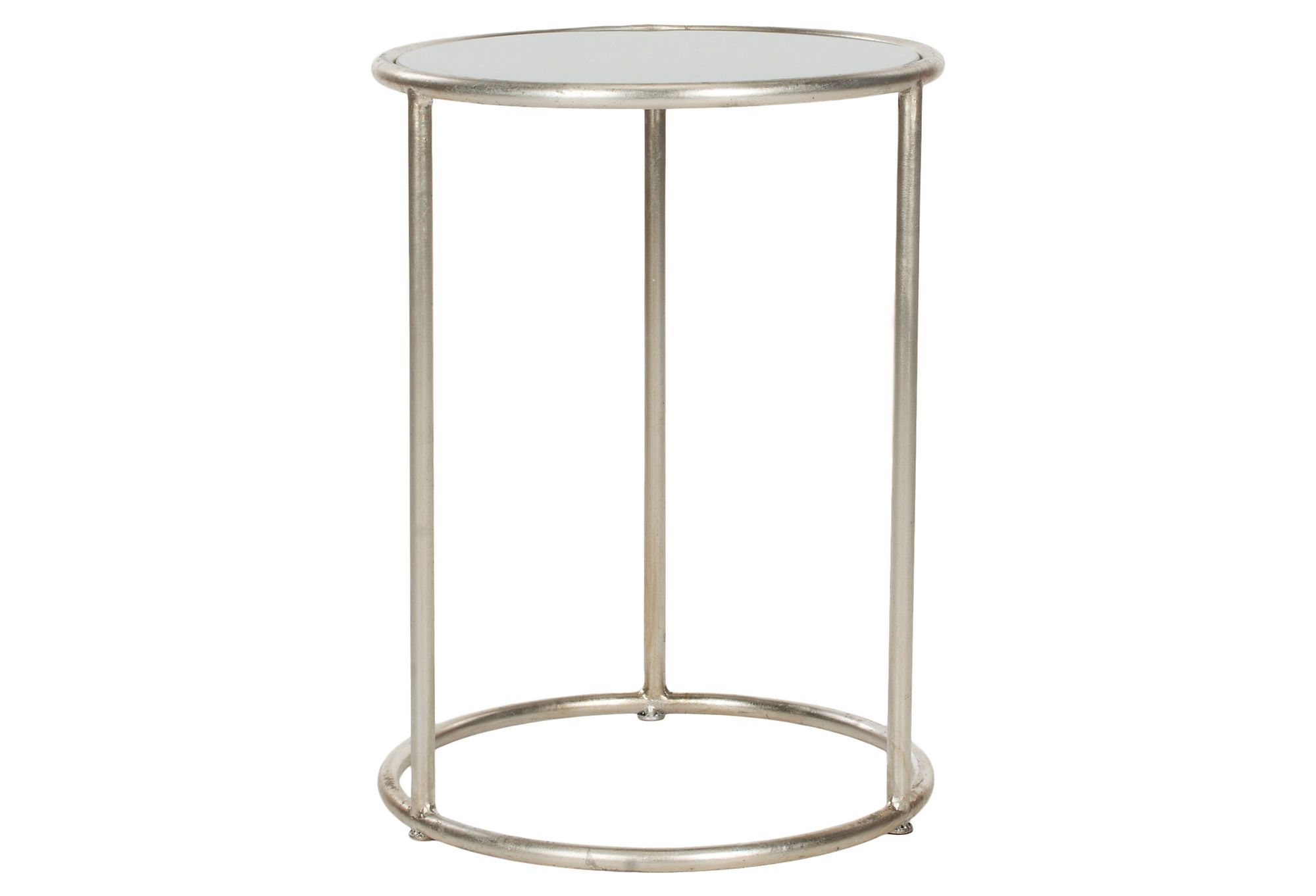 - Porter Accent Table, Silver One Kings Lane Glass Accent Tables
