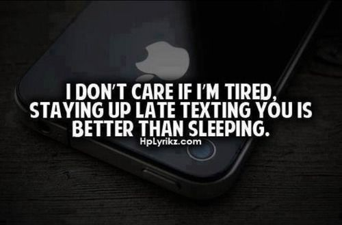 Except Its More Like Staying Up Late Talking To You Now This Is