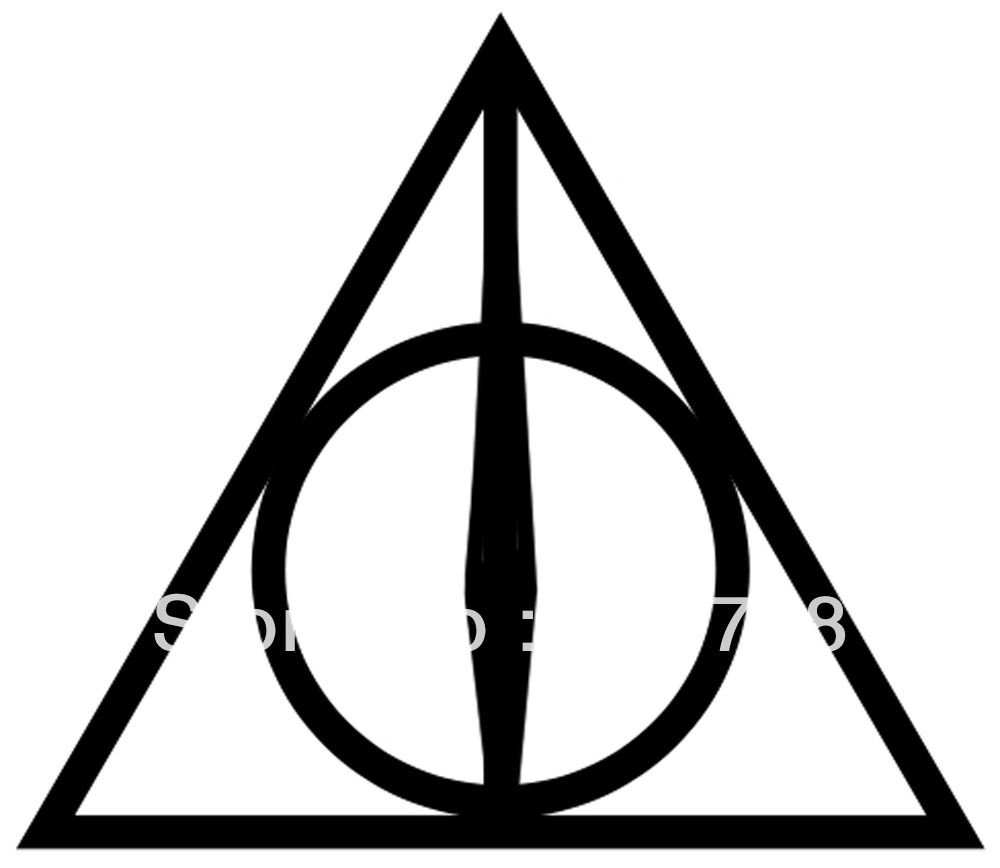 Harry Potter Deathly Hallows Triangle Tattoo Model Books And