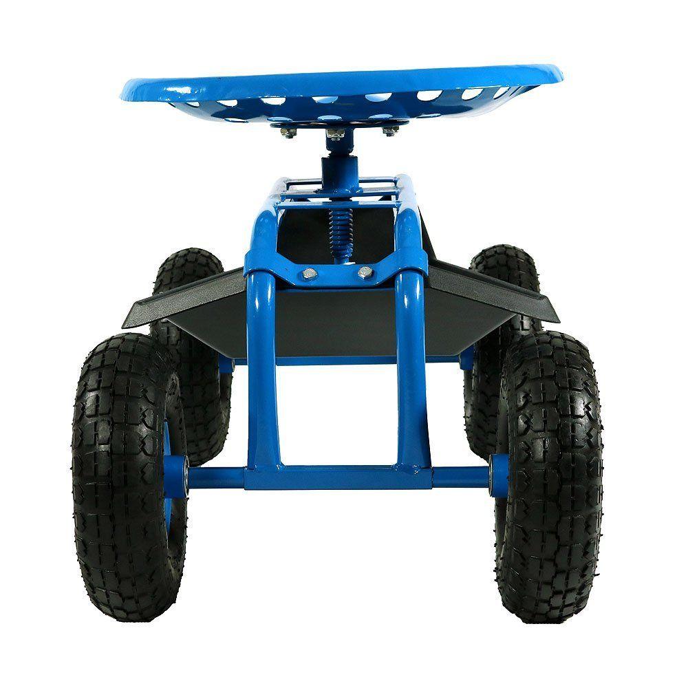 rolling garden seat cart tc1852 garden cart with seat
