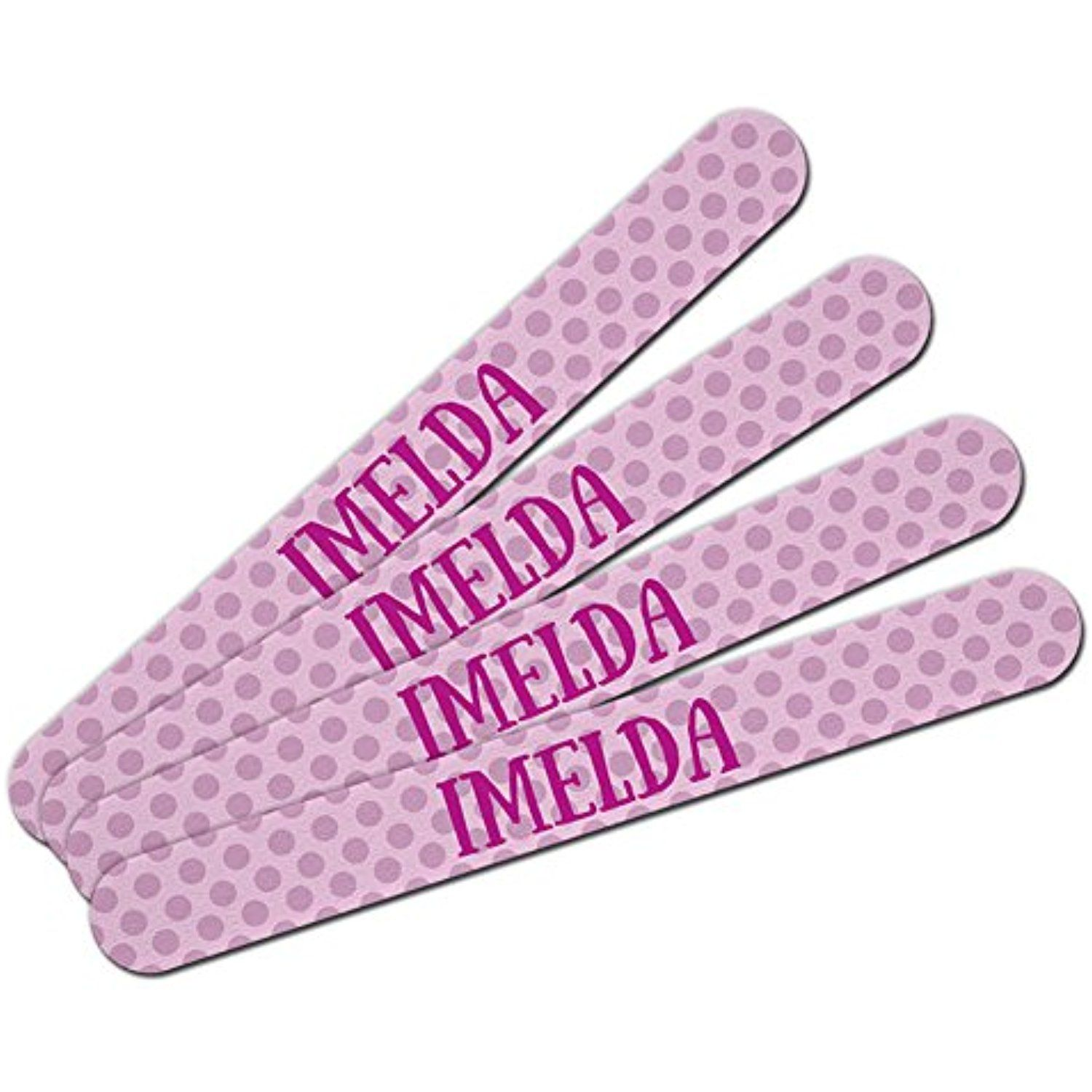 Double-Sided Nail File Emery Board Set 4 Pack I Love Heart Names ...