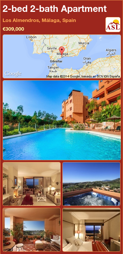2-bed 2-bath Apartment in Los Almendros, Málaga, Spain ...