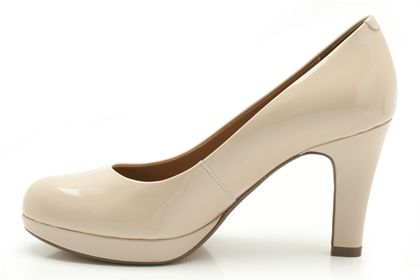 Womens Smart Shoes - Anika Kendra in Nude Patent from Clarks shoes
