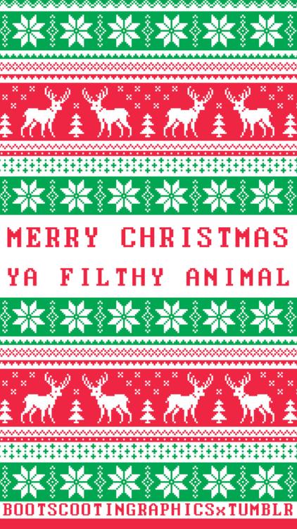 Merry Christmas Ya Filthy Animal Wallpaper