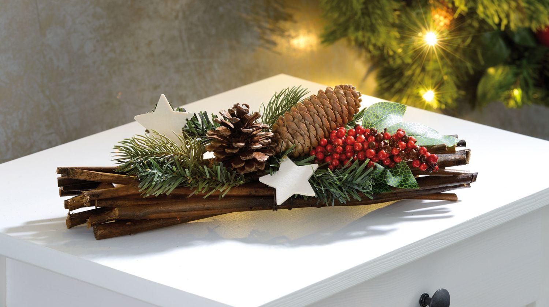 Decoration De Noel Naturelle 30 Cm Faite Main Decoration Table